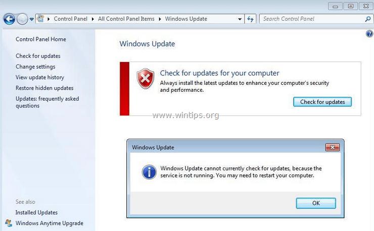 ဖြေရှင်းချက်။ ။ Windows Updates သည်ဆက်လက်ပိတ်ထားသည်