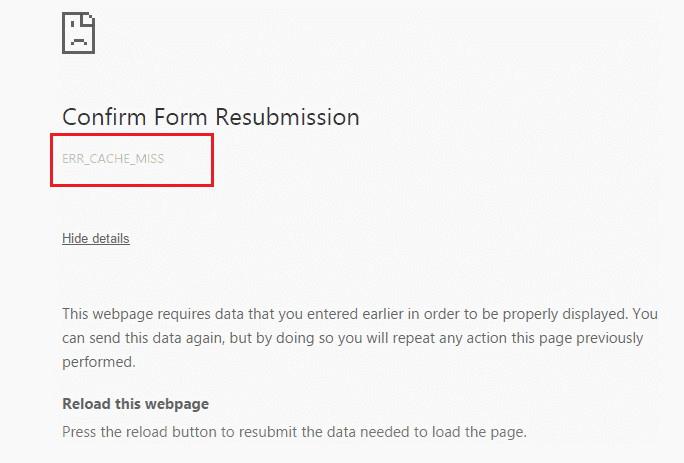 Kā novērst kļūdu Err_Cache_Miss pārlūkprogrammā Google Chrome