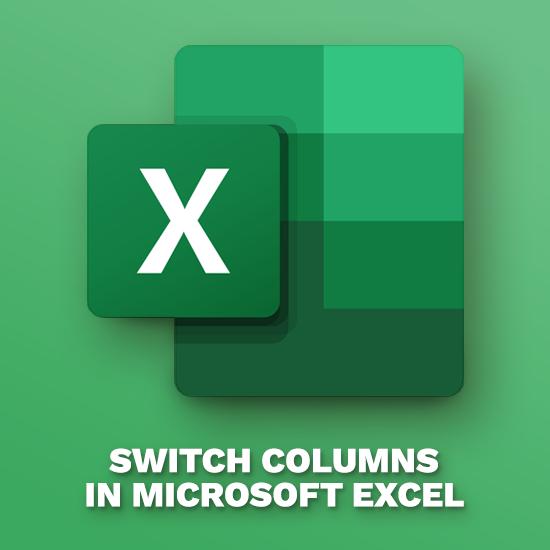 Com canviar de columna a Excel