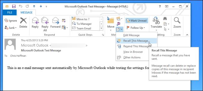 ¿Cómo puedo retirar o reemplazar un correo electrónico enviado?