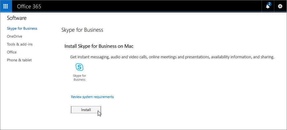 Cómo instalar Skype Empresarial Mac