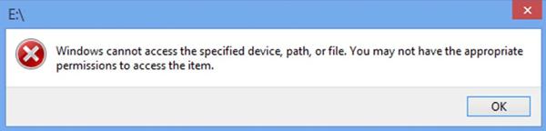 ونڈوز 10 پر ونڈوز متعین ڈیوائس پاتھ یا فائل تک رسائی حاصل نہیں کرسکتے ہیں