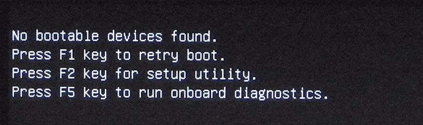 Řešení pro žádné bootovací zařízení nenalezeno ve Windows 10