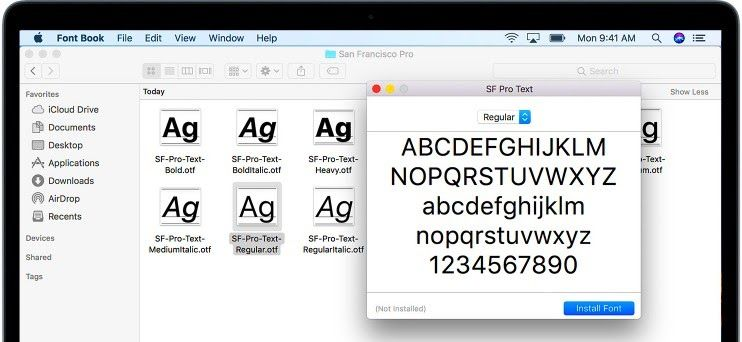 Cara Memasang Font ke Word di Mac