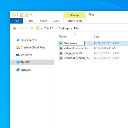 Cómo cambiar el nombre de archivos por lotes en Windows 10