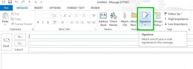 Cara membuat tanda tangan email
