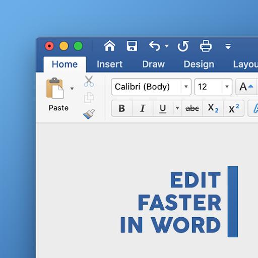 Kā ātrāk rediģēt Word dokumentus