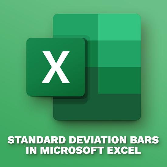 Cómo agregar barras de desviación estándar en Excel