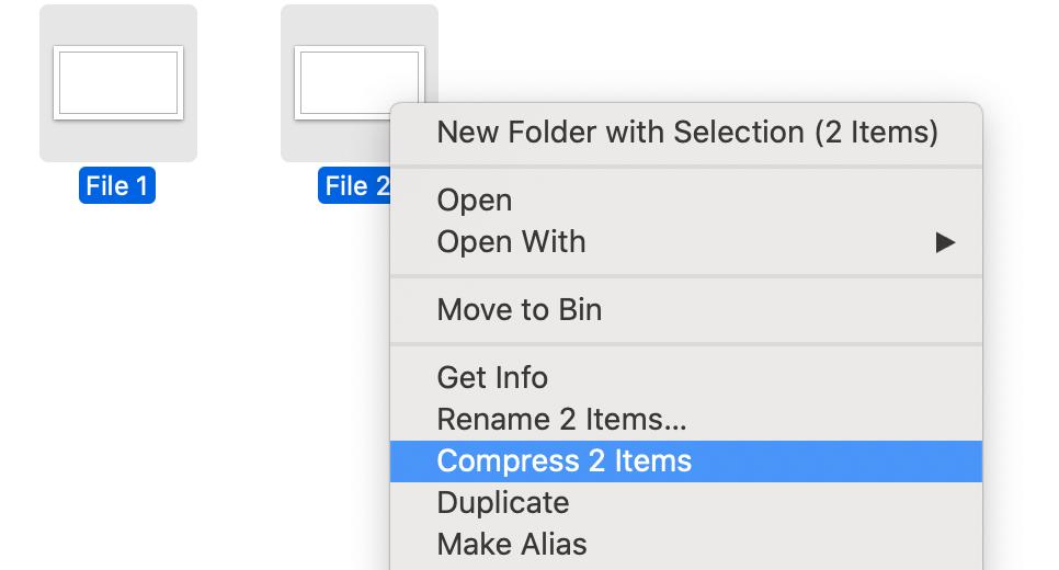 Jak kompresować pliki i foldery do zip na komputerze Mac