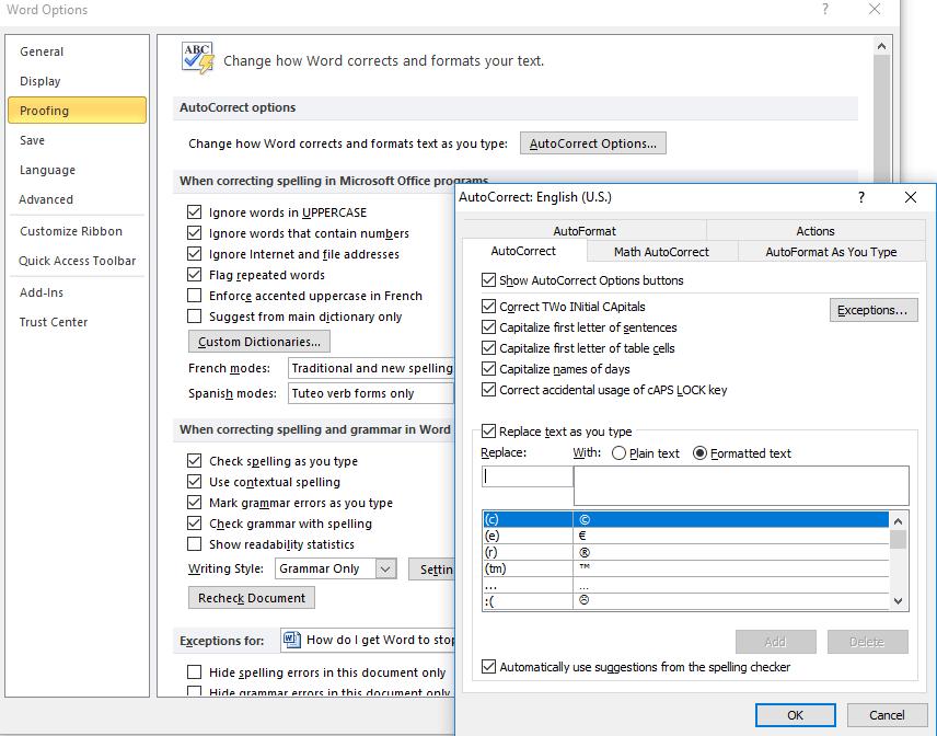 Microsoft Word မှာ Auto-correct ဘယ်လိုရပ်ရမလဲ
