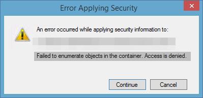 Cómo corregir el error al enumerar objetos en el contenedor Error en Windows 10