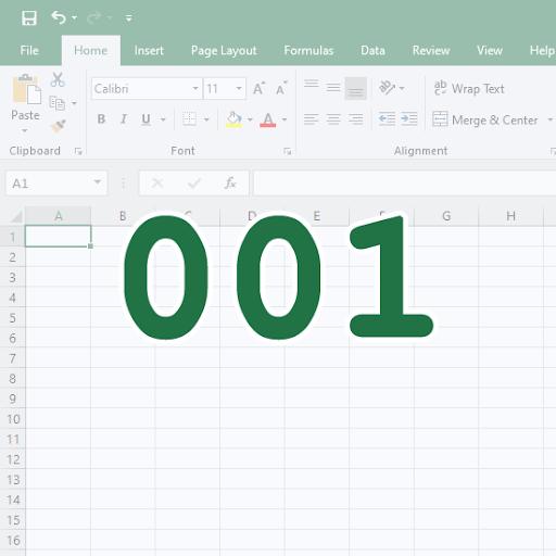Kā pievienot un noņemt galvenās nulles programmā Excel