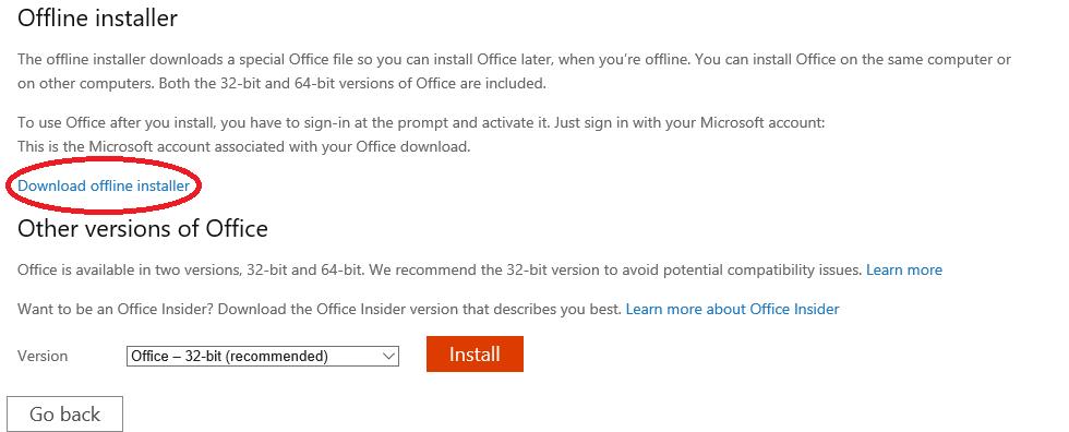 Cum se folosește programul de instalare offline Microsoft Office pentru Office home