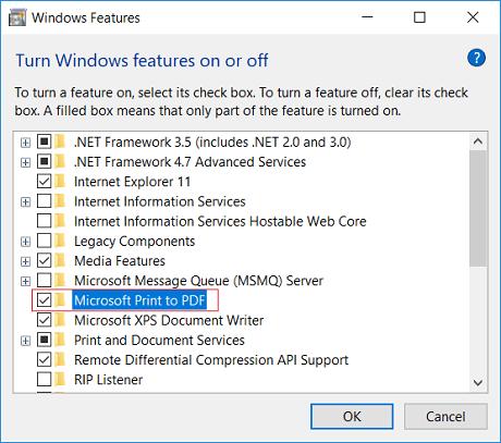 Cómo arreglar la función Microsoft Print to PDF que no funciona