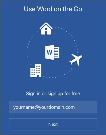 Cómo usar las aplicaciones de Office en un dispositivo móvil con una suscripción a Office 365