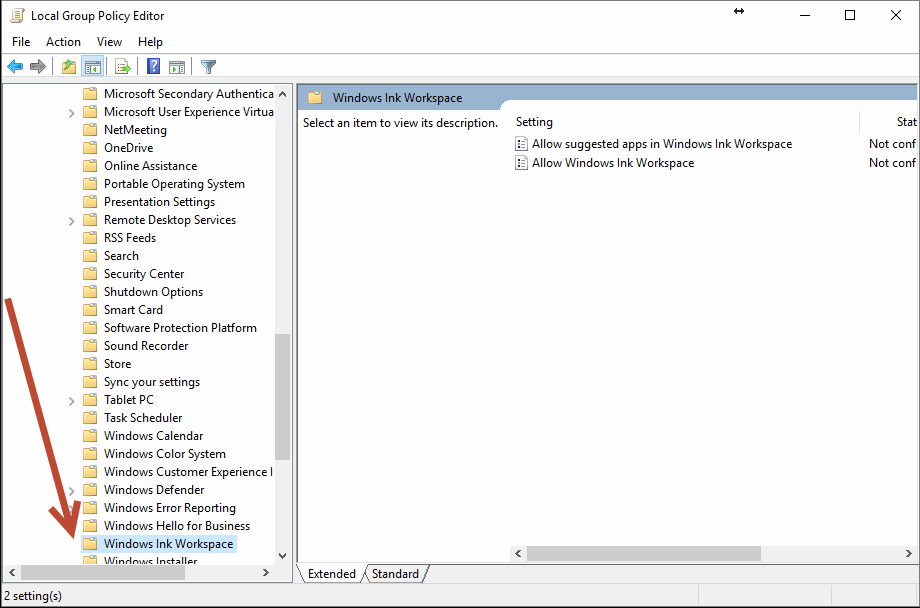 Kuidas Windowsi tindi tööruumi Windows 10-s keelata