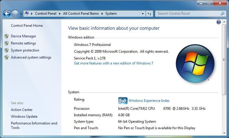 Windows 7 용 서비스 팩 1 및 기능