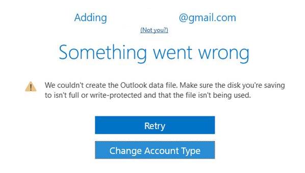 Com es corregeix l'error 'No hem pogut crear el fitxer de dades d'Outlook