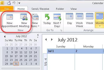 Cómo crear reuniones y citas en Microsoft Outlook