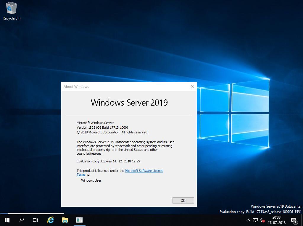 Microsoft Windows Server 2019 Revisió de llicències obertes per a un sol usuari CAL