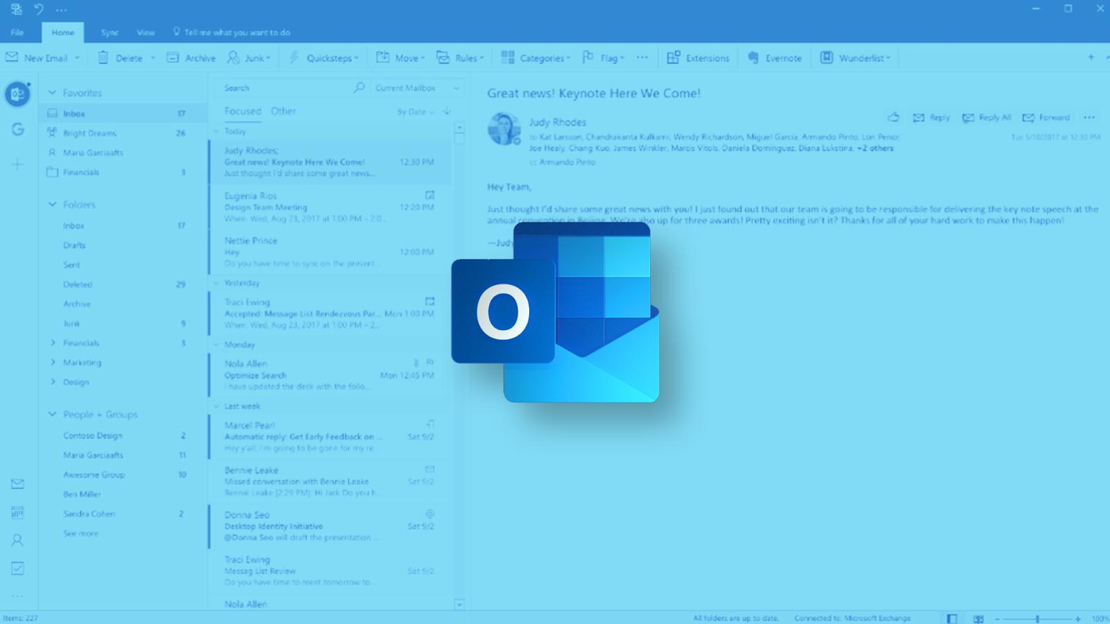 Hoja de referencia de Microsoft Office Outlook