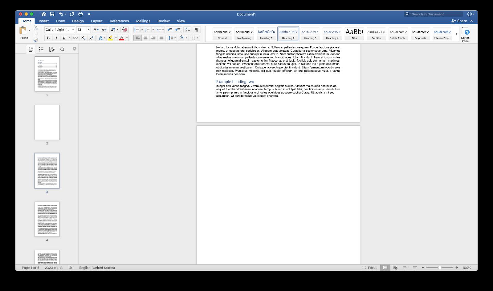 Cómo eliminar una página en Word para Mac