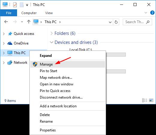 Windows 10에서 하드 드라이브가 표시되지 않음